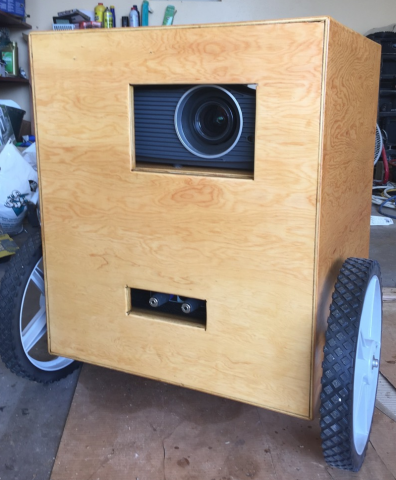 Our outdoor-ready projector